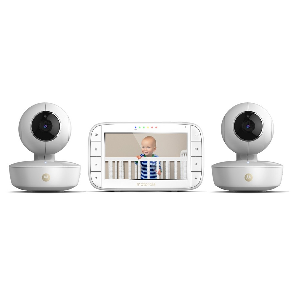 "Image of ""Motorola 5"""" Portable Video Baby Monitor with Two Cameras - MBP36XL-2, White"""