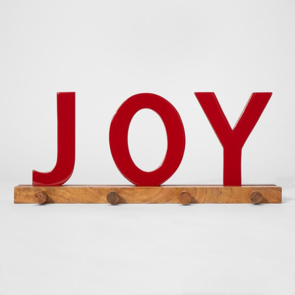 Stocking Holder Joy - Red - Threshold