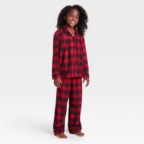 Kids' Holiday Buffalo Check Flannel Matching Family Pajama Set - Wondershop™ Red - image 1 of 2