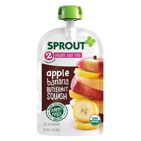 Sprout Organic Baby Food Apple Banana Butternut Squash - 3.5oz - image 1 of 1