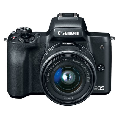 Canon EOS M50 Mirrorless 15-45mm IS STM Kit Lens - Black (2680C011)