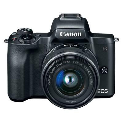 Canon EOS M50 Mirrorless 15-45mm IS STM Kit Lens - Black (2680C011)