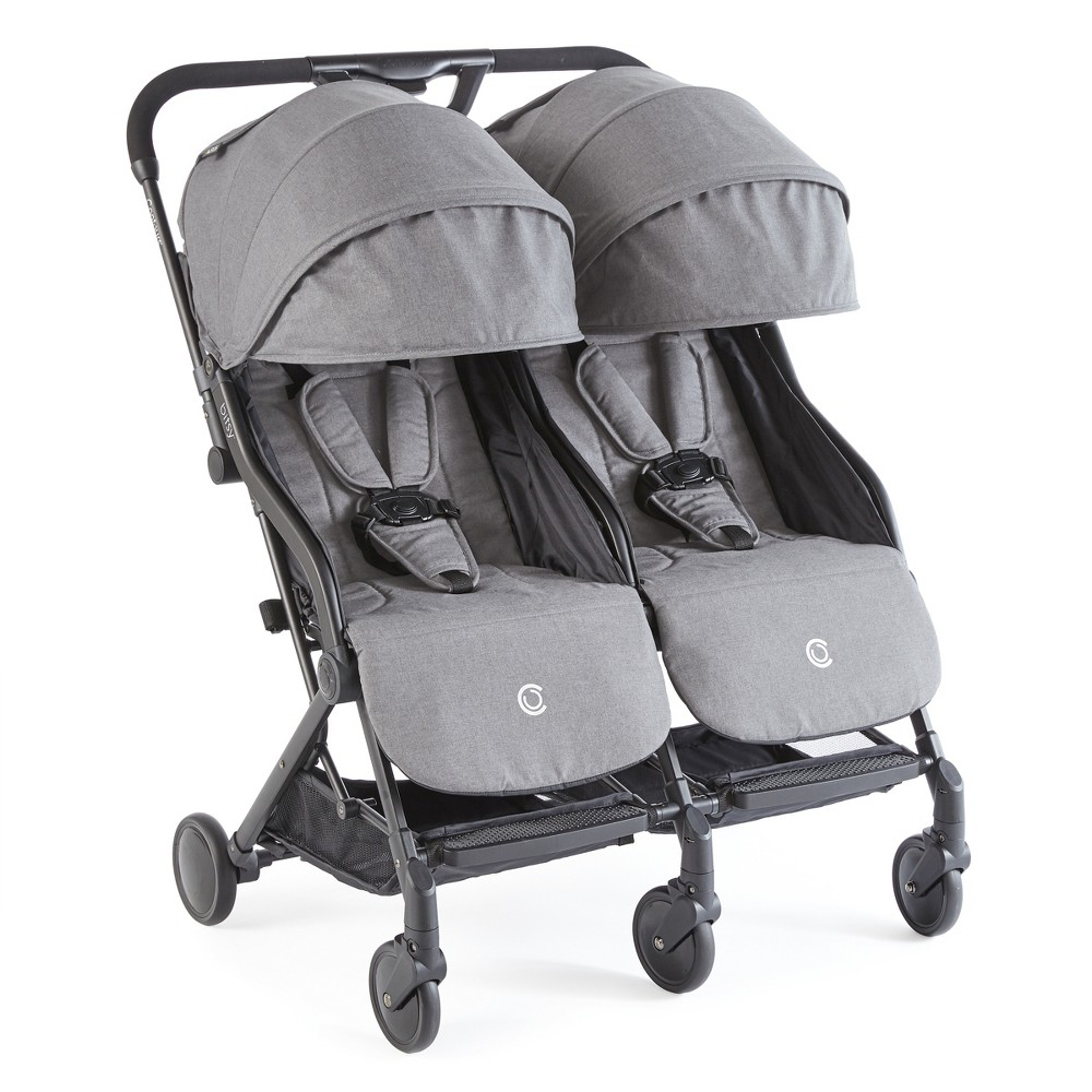 Image of Contours Bitsy Double Stroller - Gray
