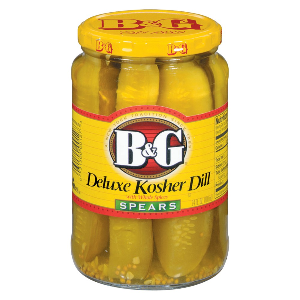 B&g Deluxe Kosher Dill Pickle Spears - 24 fl oz
