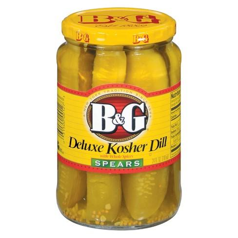 B&G Deluxe Kosher Dill Pickle Spears - 24 fl oz - image 1 of 1