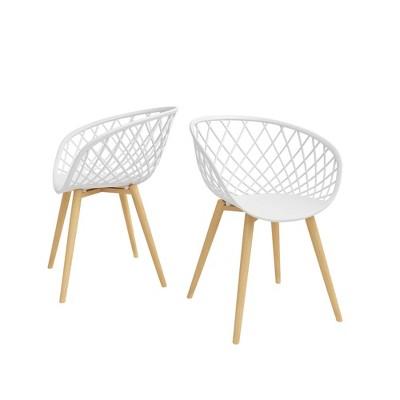 Set of 2 Kurv Chair White - Jamesdar