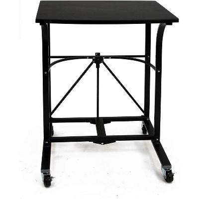 Origami RDF-01 Pre-Assembled Powder-Coated Steel Home or Office Small Portable Laptop Trolley, Black