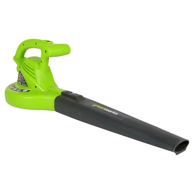 GreenWorks Corded 7 Amp Electric Leaf Blower Exotic Green