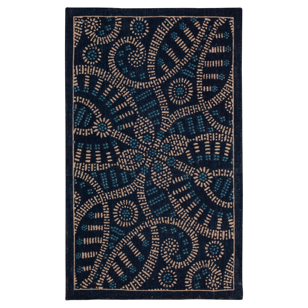 Waverly Belle of the Ball Color Motion Accent Rug - Delft (2'3