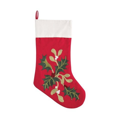 C&F Home Holly Branch Stocking - image 1 of 1