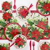 48ct Holiday Poinsettia Guest Towels - image 2 of 3
