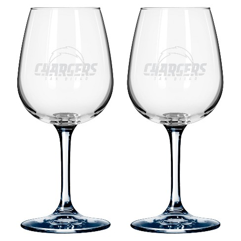 Boelter Brands San Diego Chargers 2 Pack Wine Glass 12 oz - image 1 of 1