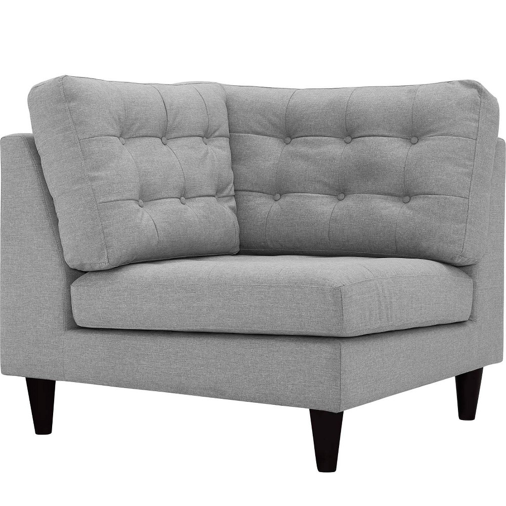 Empress Upholstered Fabric Corner Sofa Light Gray - Modway