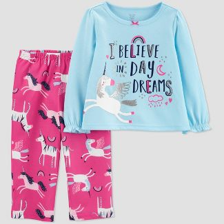 Toddler Girls' 2pc Unicorn Pajama Set - Just One You® made by carter's Blue/Pink 2T