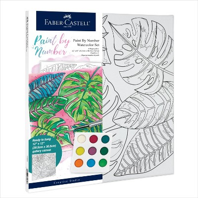 Faber-Castell Paint by Number Watercolor Set - Tropical