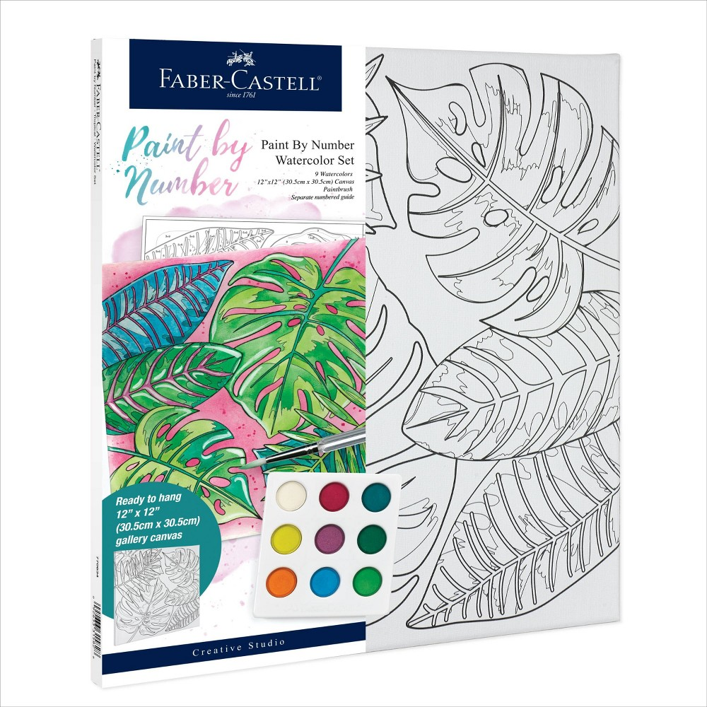 Faber Castell Paint By Number Watercolor Set Tropical