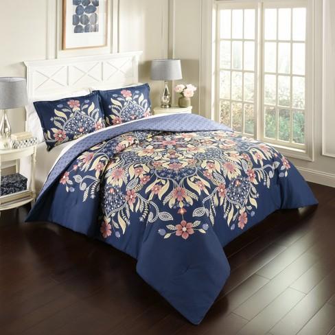 Floral Fantasy Reversible Comforter Set - Marble Hill - image 1 of 3