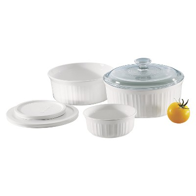 CorningWare 6 Piece Bakeware Set - White