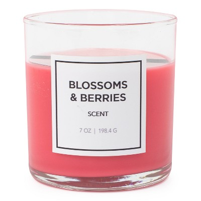 7oz Glass Jar Blossoms and Berries Candle - Hanna's Candle Co