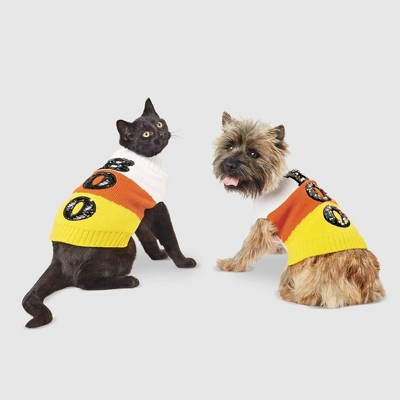 Candy Corn Halloween Dog and Cat Sweater - XS - Hyde & EEK! Boutique™