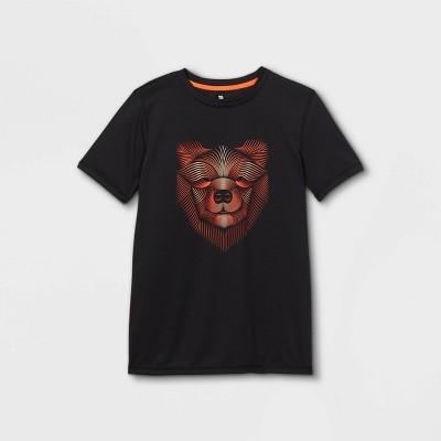 Boys' Short Sleeve Bear Graphic T-Shirt - All in Motion™ Black