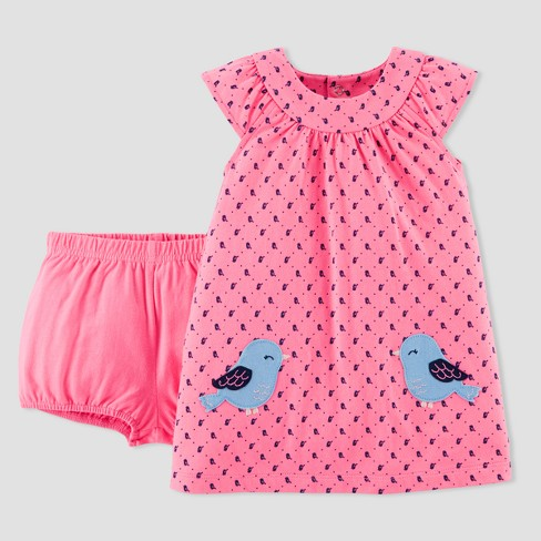Baby Girls' Bird Dress Set - Just One You® made by carter's Pink - image 1 of 2