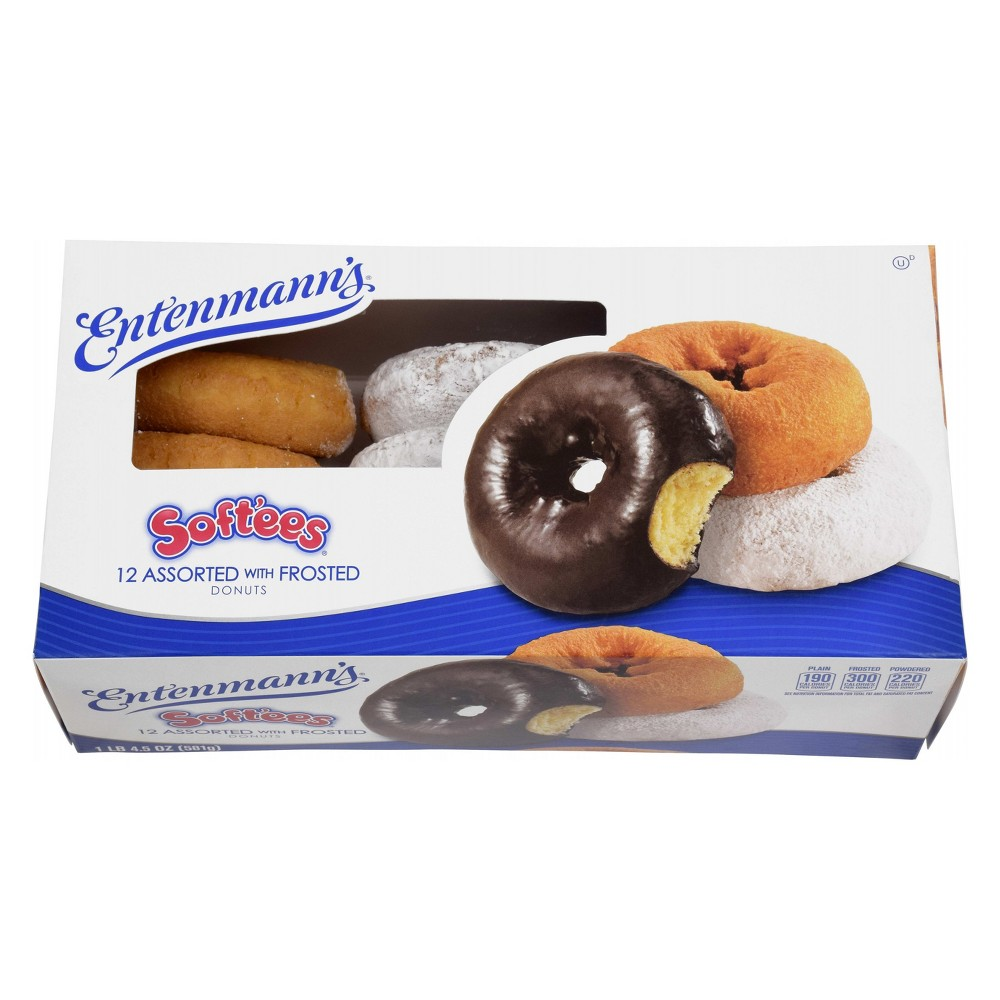 Entenmann's Soft'ees Family Pack Assorted with Frosted Donuts - 12ct
