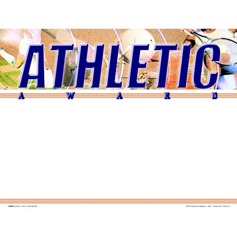 Hammond & Stephens Athletic Recognition  Award - Blank Item, 11 x 8-1/2 inches, pk of 25 - image 1 of 1