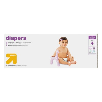 Diapers Super Pack Size 4 92 ct - Up&Up™