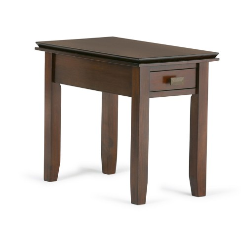 huge selection of d9138 3a997 Stratford Solid Wood Narrow Side Table Medium Auburn Brown - Wyndenhall