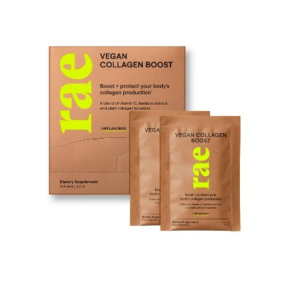 Rae Vegan Collagen Boost Powder Sachets for Natural Collagen Production - Unflavored - 15pk