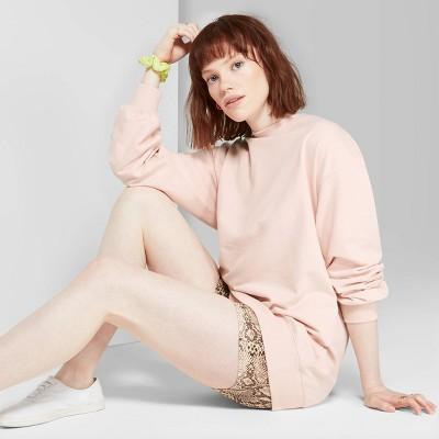 Women's Oversized Crewneck Sweatshirt   Wild Fable Light Pink by Wild Fable Light Pink
