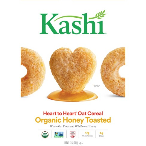 Kashi Heart to Heart Honey Toasted Oat Breakfast Cereal - 12oz - image 1 of 7