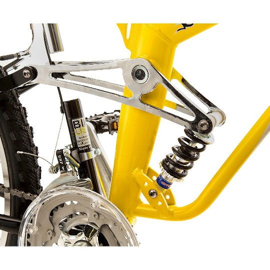 "TITAN Glacier Pro Alloy Suspension Mountain 26"" Bike - Yellow and Black, Adult Unisex image number null"