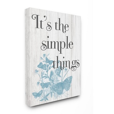 Stupell Industries It's the Simple Things Quote Butterfly Nature Rustic Text