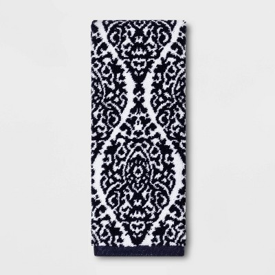 Performance Hand Towel Navy Ogee - Threshold™