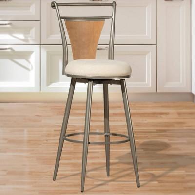 London Swivel Height Barstool Pewter/Ivory - Hillsdale Furniture