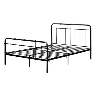 Full Versa Metal Complete Bed Black - South Shore