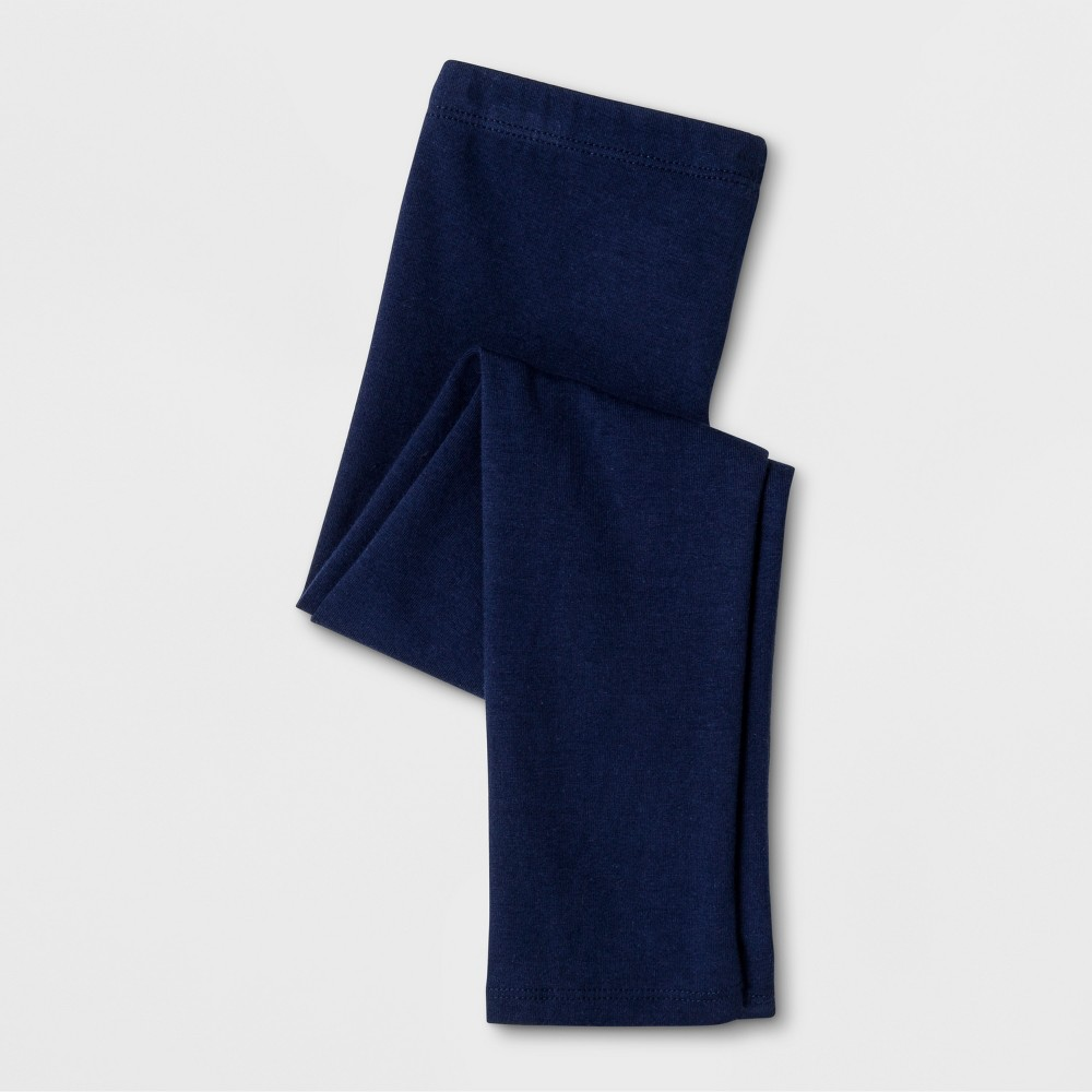 Toddler Girls' Leggings Pants - Cat & Jack Nightfall Blue 2T