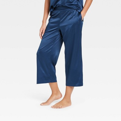Women's Satin Cropped Pajama Pants - Stars Above™