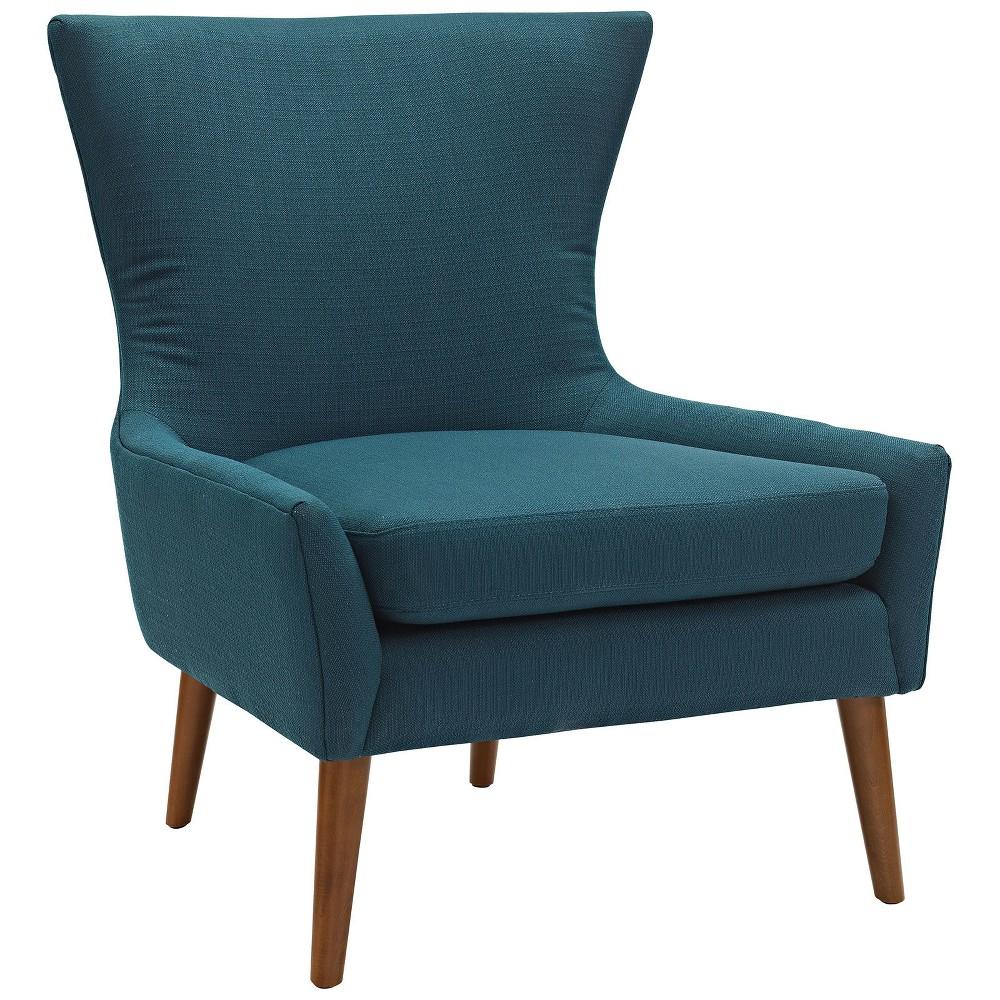 Keen Upholstered Fabric Armchair Azure (Blue) - Modway