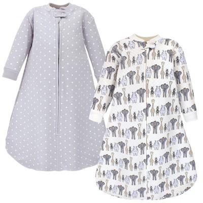 Hudson Baby Infant Boy Premium Quilted Long Sleeve Sleeping Bag and Wearable Blanket, Royal Safari
