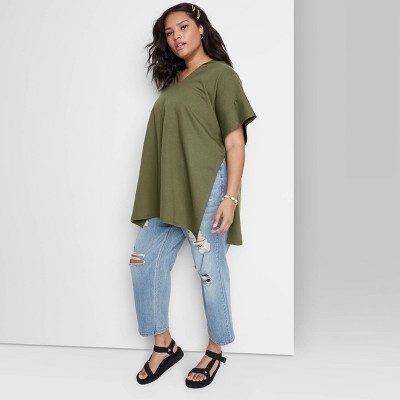 Women's Hooded Pullover - Wild Fable™ Olive