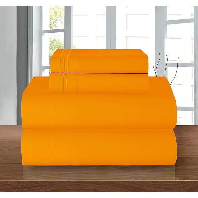 Elegant Comfort Luxurious Three-Line Emroidered 4-Piece Wrinkle Resistant Coziest Bed Sheet Set.