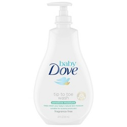 Baby Dove Sensitive Moisture Tip-to-Toe Fragrance-Free Wash - 20oz