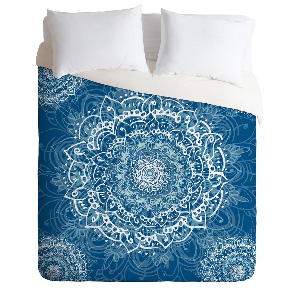 Full/Queen RosebudStudio Sweet Mandala Duvet Cover Set Blue - Deny Designs