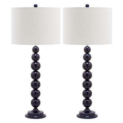 Jenna Stacked Ball Table Lamp Set - Safavieh