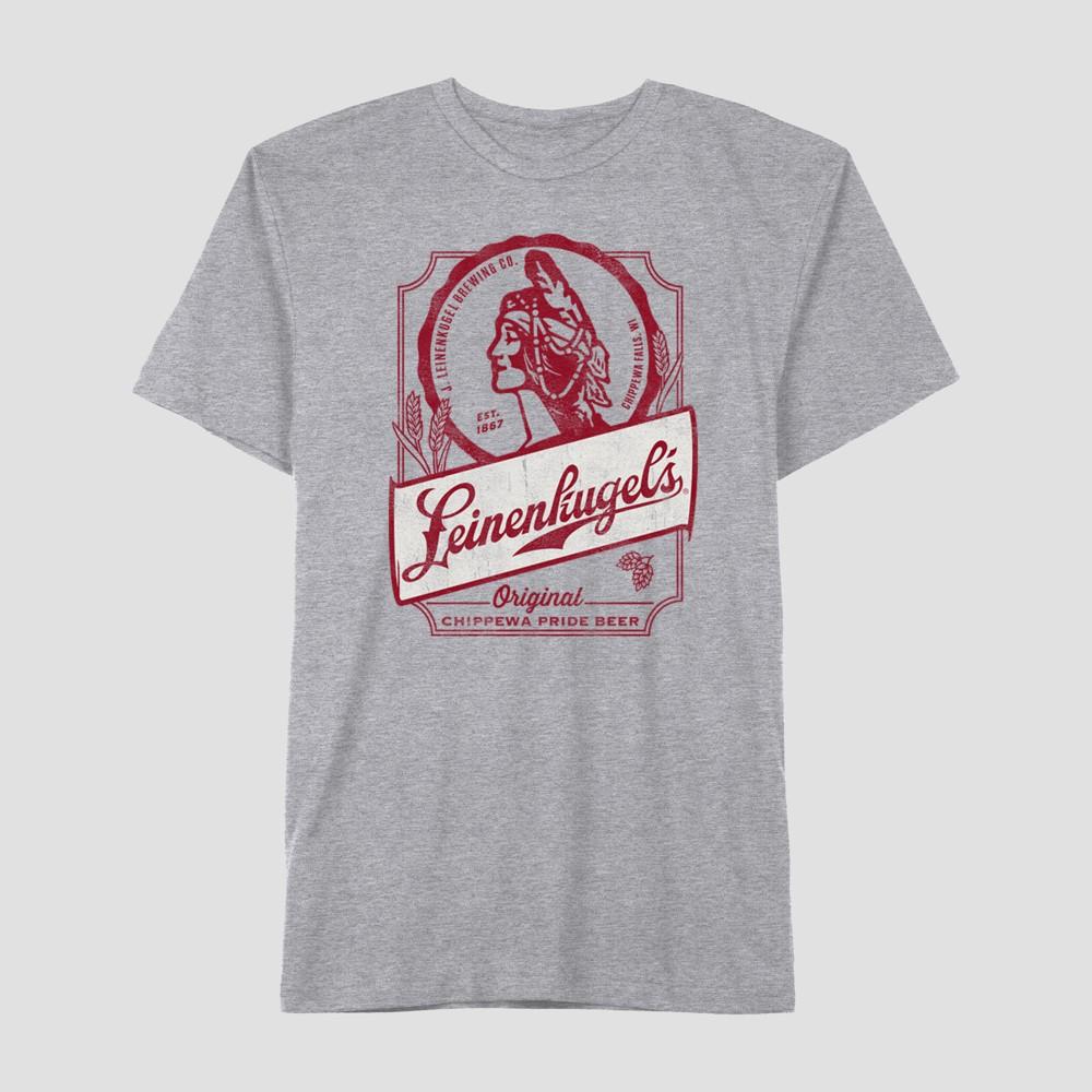 Men's Miller Leinenkugel's Label Short Sleeve T-Shirt - Cloudy Gray XL
