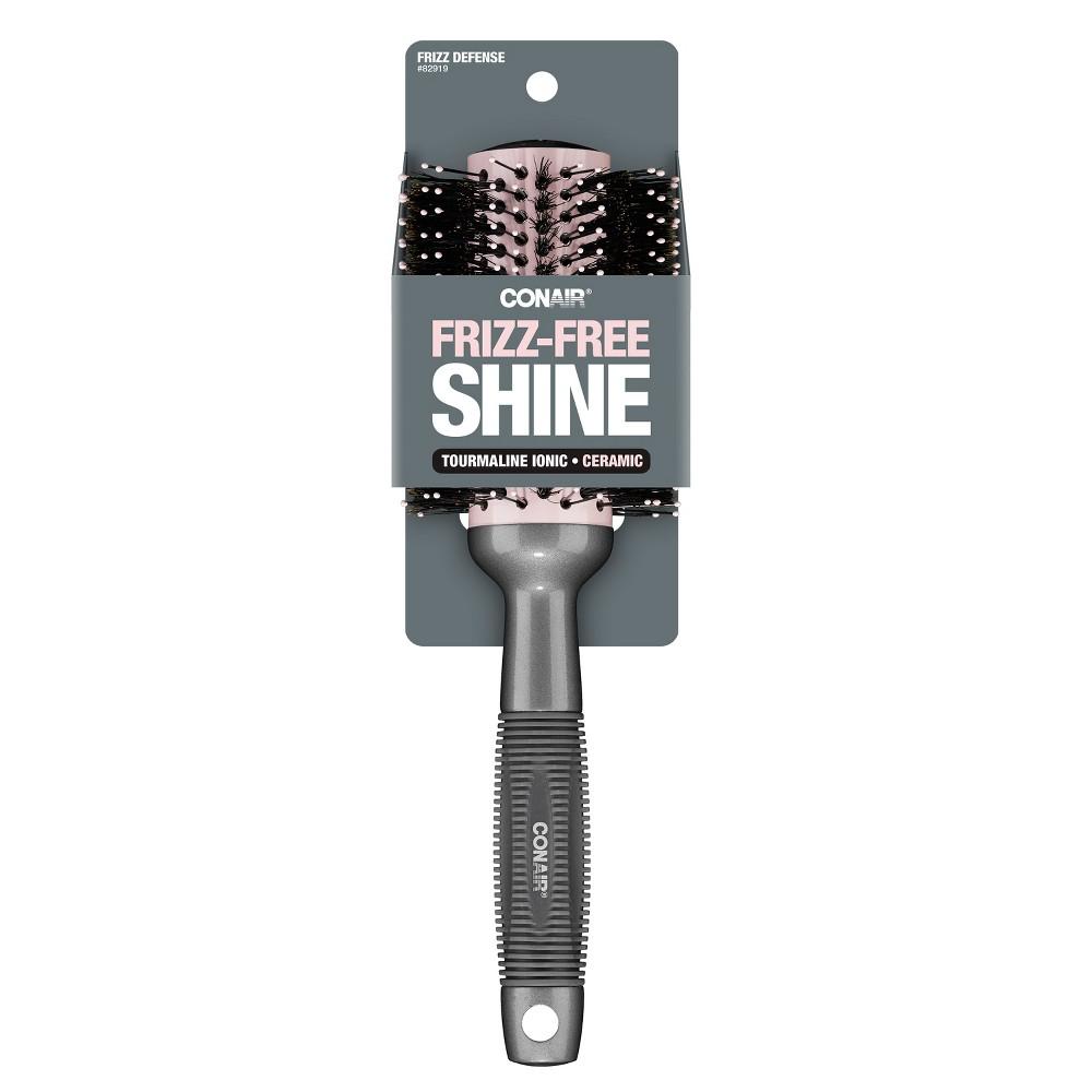 Conair Frizz-Free Shine Ceramic Hair Brush - 1ct, Multi-Colored