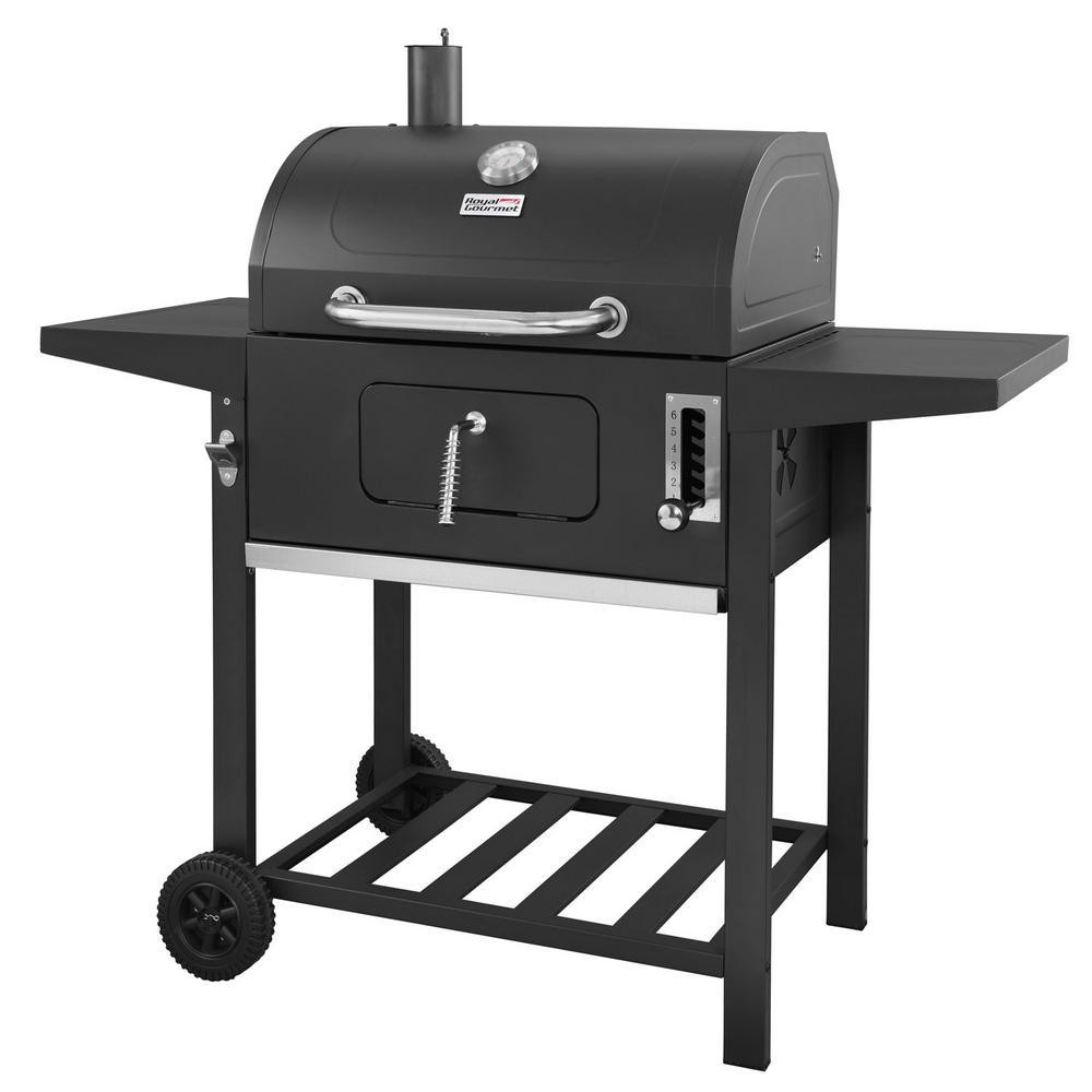 24 CD1824A Charcoal Grill with Side Shelves Black – Royal Gourmet 53659360